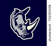 Rhinos Head Logo. Animal  Logo...