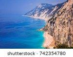 sea scenery | Shutterstock . vector #742354780