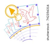 concept animation  hand drawn... | Shutterstock .eps vector #742356316