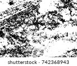 spotty surface. white  black... | Shutterstock .eps vector #742368943