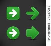 satin smooth green arrow sign... | Shutterstock .eps vector #74237257