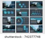 blue abstract presentation... | Shutterstock .eps vector #742377748