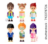 child character collection | Shutterstock .eps vector #742378726