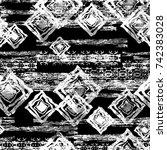 seamless pattern ethnic design. ... | Shutterstock . vector #742383028