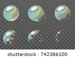 vector cartoon style set of... | Shutterstock .eps vector #742386100
