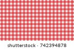 table cloth background. vector... | Shutterstock .eps vector #742394878