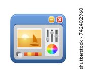 image editor    of the... | Shutterstock .eps vector #742402960