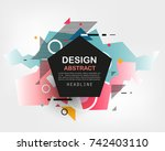 vector  abstract geometric... | Shutterstock .eps vector #742403110
