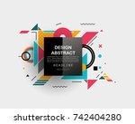 vector  abstract geometric... | Shutterstock .eps vector #742404280