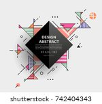 vector  abstract geometric... | Shutterstock .eps vector #742404343