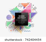 vector  abstract geometric... | Shutterstock .eps vector #742404454
