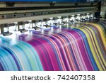 large inkjet printer working... | Shutterstock . vector #742407358