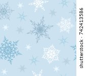 seamless pattern with white and ... | Shutterstock .eps vector #742413586