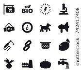 16 vector icon set   shop...   Shutterstock .eps vector #742417408
