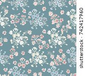 seamless pattern in small... | Shutterstock . vector #742417960