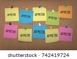 me too hashtag on an many... | Shutterstock .eps vector #742419724