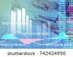businessman digital stock... | Shutterstock . vector #742424950