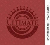 ultimate retro red emblem | Shutterstock .eps vector #742436854