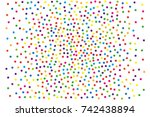 festival pattern with color... | Shutterstock .eps vector #742438894
