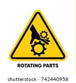 caution danger sign. hazard... | Shutterstock .eps vector #742440958