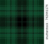 green and black scottish woven... | Shutterstock .eps vector #742441174
