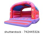 Small photo of A Large Inflatable Bouncy Castle Childrens Play Area.