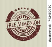 red free admission rubber... | Shutterstock .eps vector #742450750