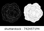illustration with isolated... | Shutterstock .eps vector #742457194
