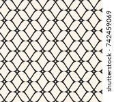 elegant mesh seamless pattern ... | Shutterstock .eps vector #742459069