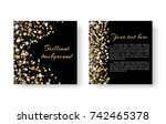 new year's sparkling square... | Shutterstock .eps vector #742465378