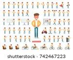 set of men character vector... | Shutterstock .eps vector #742467223