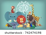Illustration Of Wild Exotic...