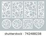 set elements decorative design. ... | Shutterstock .eps vector #742488238