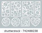 set elements decorative design. ... | Shutterstock .eps vector #742488238