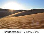 liwa desert | Shutterstock . vector #742493143