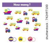 counting educational children... | Shutterstock .eps vector #742497100