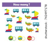 counting educational children... | Shutterstock .eps vector #742497178