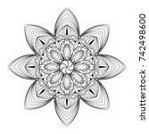 mandala flower decoration hand... | Shutterstock .eps vector #742498600