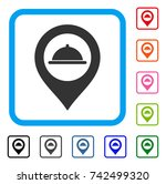 meal marker icon. flat gray...