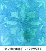 watercolor texture with divorce ... | Shutterstock . vector #742499356