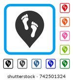 Footprints Map Marker Icon....