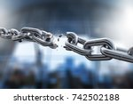 chain. | Shutterstock . vector #742502188
