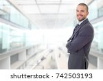 happy business man portrait at... | Shutterstock . vector #742503193