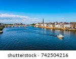 maastricht netherlands and maas ... | Shutterstock . vector #742504216