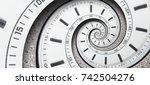 modern diamond white clock... | Shutterstock . vector #742504276