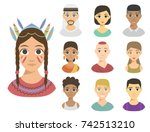 cool avatars different nations... | Shutterstock .eps vector #742513210