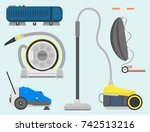 professional cleaning equipment ... | Shutterstock .eps vector #742513216
