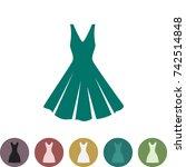 woman dress vector icon... | Shutterstock .eps vector #742514848