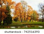 autumn morning in catherine...   Shutterstock . vector #742516393