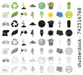 bio and ecology set icons in... | Shutterstock .eps vector #742516768